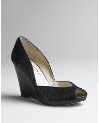 Kors by Michael Kors | Black Vail Peep-toe Platform Wedge Pumps | Lyst