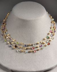 Marco Bicego - Multicolor Paradise Multi-strand Necklace - Lyst