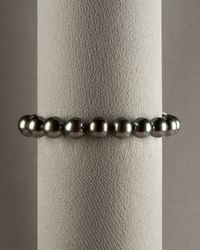 Mikimoto - Black South Sea Pearl Bracelet - Lyst