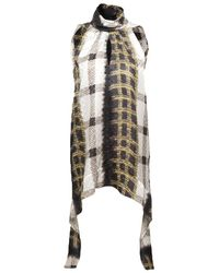 Peter Pilotto | Metallic Key Printed Silk Top | Lyst