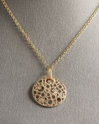 Roberto Coin | Metallic Circle Pendant Necklace | Lyst