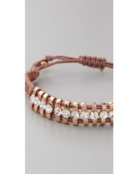 Shashi - Brown One Row Original Bracelet - Lyst
