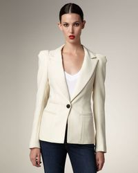 Smythe | Natural Puff-shoulder Blazer | Lyst