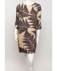 Stella McCartney | Gray Penelope Fern-print Silk-chiffon Dress | Lyst