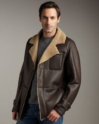 UGG | Brown Blackfoot Shearling Coat for Men | Lyst