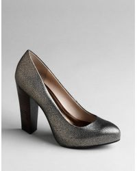 Calvin Klein | Metallic Elita Stacked-heel Platform Pumps | Lyst