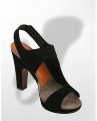 Chie Mihara   Black Tasca Suede Platform Sandals   Lyst