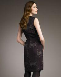 Lanvin - Purple Catwalk Logo-print Sheath Dress - Lyst