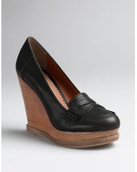 Lucky Brand | Black June Platform Wedge Loafers | Lyst