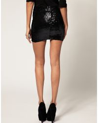 ASOS Collection | Blue Asos Mini Skirt with Sequins | Lyst
