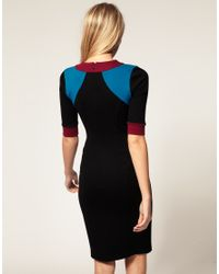 ASOS Collection | Multicolor Asos Petite Exclusive Dress in Colourblock | Lyst