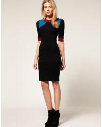 ASOS Collection - Multicolor Asos Petite Exclusive Dress in Colourblock - Lyst