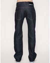 Dr. Denim - Blue Dr Denim Kinmei Low Front Pocket Straight Jeans Exclusive To Asos for Men - Lyst