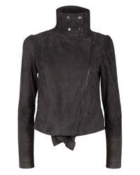 Edun | Gray Asymmetric Suede Jacket | Lyst