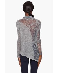 Helmut Lang - Gray Pull-over Burnout Sweater - Lyst