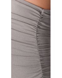 James Perse - Natural Ruched Pencil Skirt - Lyst