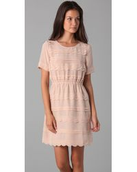 Madewell - Pink Elmira Scalloped Dress - Lyst