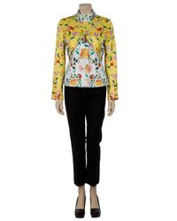 Mary Katrantzou - White Dynasty Biker Jacket - Lyst