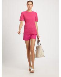 Michael Kors - Pink Featherweight Cashmere Tee - Lyst