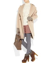 Reed Krakoff   Natural Wool and Angora-blend Duffel Coat   Lyst