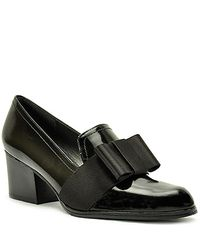 Stuart Weitzman | Smoking - Black Leather Loafer Pump | Lyst