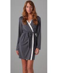 Calvin Klein | Gray Short Robe | Lyst