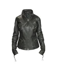 FORZIERI - Black Calf Leather Hidden Hood Multi-pocket Jacket - Lyst