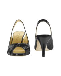 FORZIERI | Black Patent Leather Slingback Sandal Shoes | Lyst