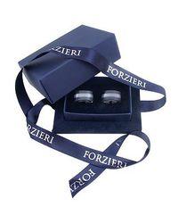 FORZIERI - Metallic Cats Eye - Black Onyx Curved Cufflinks for Men - Lyst