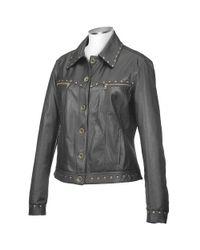 FORZIERI - Womens Black Italian Studded Leather Jacket - Lyst