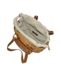 FORZIERI - Capaf Line Light Brown Wicker And Leather Bucket Bag - Lyst