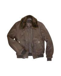 FORZIERI | Mens Dark Brown Leather Bomber Jacket for Men | Lyst