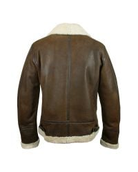 FORZIERI | Mens Dark Brown Shearling Jacket for Men | Lyst