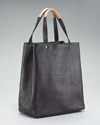 Hunter | Ashleigh Leather Shopper, Black | Lyst