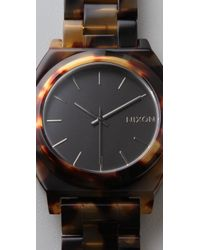 Nixon - Brown Tortoiseshell Acetate Watch - Lyst