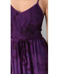Rebecca Taylor - Purple Tie Dye Smocked Dress - Lyst