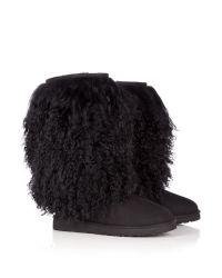 Ugg | Black Mongolian Sheepskin Tall Boot | Lyst