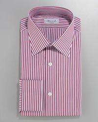 Charvet | Striped Dress Shirt, Red/white for Men | Lyst