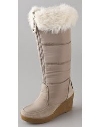 Juicy Couture | Gray Ensley Wedge Boots | Lyst