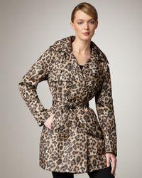 Neiman Marcus | Multicolor Leopard-print Trenchcoat | Lyst