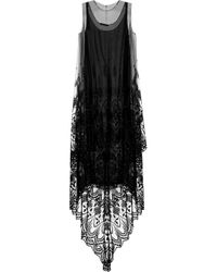 The Row | Black Kelter Embroidered Tulle Dress | Lyst