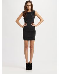 Alice + Olivia | Black Gyllen Zipper Metallic Dress | Lyst