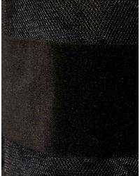 ASOS - Natural Full Skirt In Velvet And Mesh Stripe - Lyst