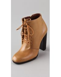 Elizabeth and James | Natural Chaps Lace Up Booties | Lyst
