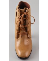 Elizabeth and James - Natural Chaps Lace Up Booties - Lyst