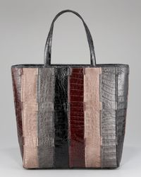 Nancy Gonzalez | Multicolor Striped Crocodile Tote | Lyst