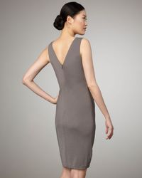 Robert Rodriguez | Metallic Marilyn Knotted Dress, Pewter | Lyst