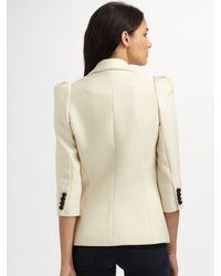 Smythe - White Wool Blazer - Lyst
