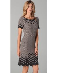 Tory Burch | Gray Kent Chevron Knit Dress | Lyst