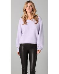 Acne Studios | Purple Cunard Sweater - Crystal | Lyst